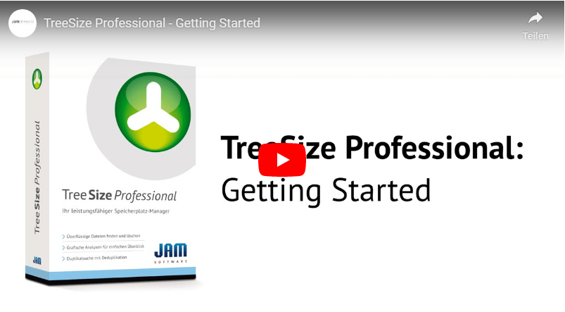 Start screen TreeSize Getting Started Video